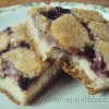 Blackberry Cheesecake Bars with Sugar Cookie Crust