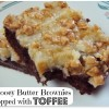 Gooey Butter Brownies topped with Toffee