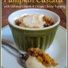 Pumpkin Custard with Oatmeal Crumb & Cream Cheese Topping