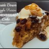 Upside Down Apple Raisin Cornbread Cake