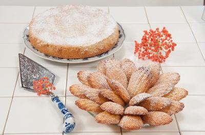 Orange Almond Teacake or Madelienes