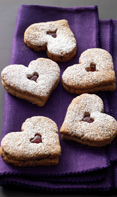 Linzer Heart Cookies from Tate's Bake Shop
