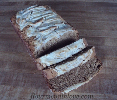 Biscoff Bread with Cream Cheese Swirl