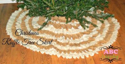 http://abccreativelearning.com/no-sew-burlap-ruffle-christmas-tree-skirt/