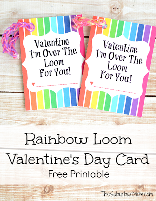 http://www.thesuburbanmom.com/2014/01/13/rainbow-loom-valentines-day-card-free-printable/