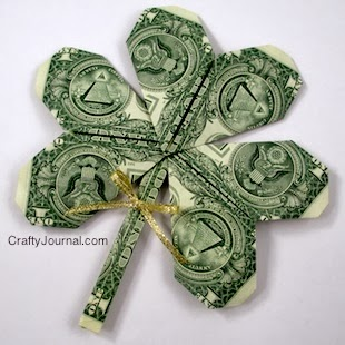 http://craftyjournal.com/dollar-bill-shamrock/