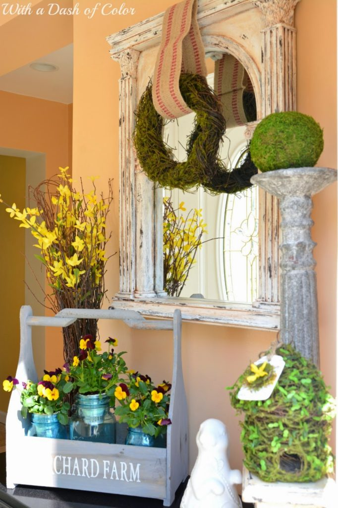 http://withadashofcolor.blogspot.com/2014/05/spring-greens-in-foyer.html