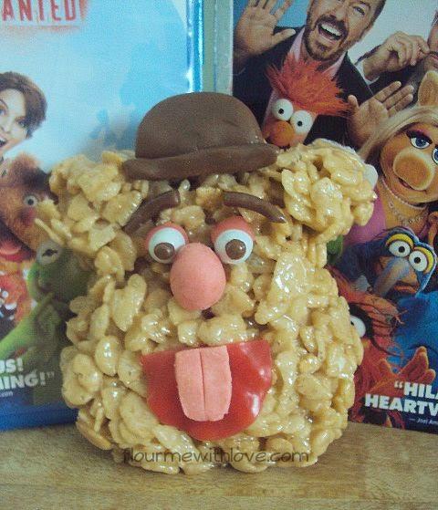 Fozzie Bear Peanut Butter Rice Krispie Treats