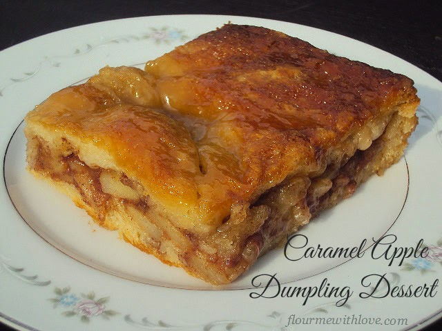 Caramel Apple Dumplings made into one delicious dessert!