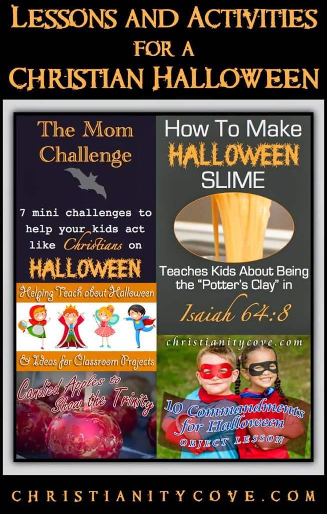 http://www.christianitycove.com/christian-halloween-activities/5909/