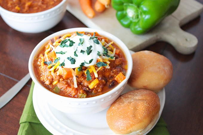 http://sunnysideups.org/veggie-loaded-turkey-chili/