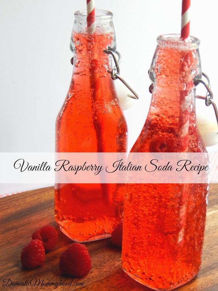 Vanilla, Raspberry, Italian, Soda, Recipe, FlourMeWithLove