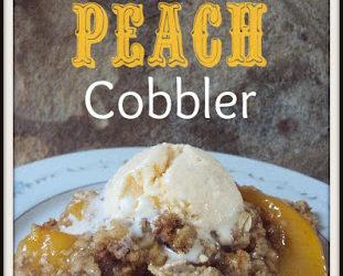 3-Ingredient Peach Cobbler