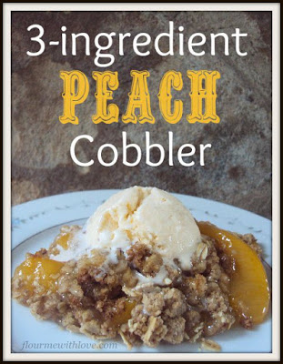 3-Ingredient Peach Cobbler