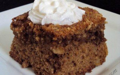 Sugar-Free Apple Walnut Coffee Cake