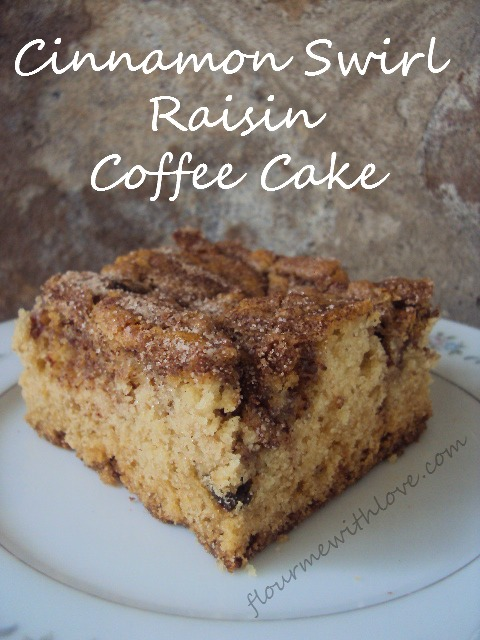 Cinnamon Swirl Raisin Coffee Cake