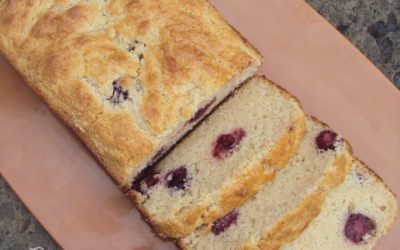 Blackberry Sour Cream Quick Bread