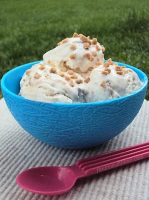 Three simple ingredients turn into a delicious and creamy no-churn ice cream!