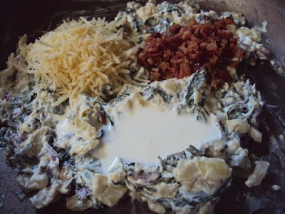 Hot Spinach, Kale & Bacon Dip ~ Flour Me With Love