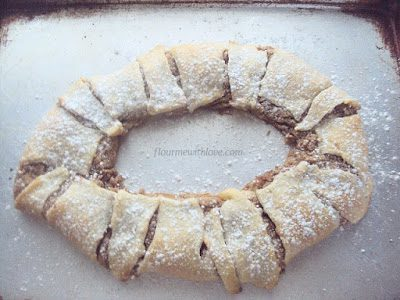 Creamy cookie butter mixed with cream cheese and baked in a flaky crescent dough!