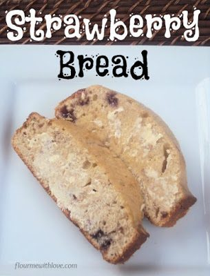 Simple scratch ingredients turned into a delicious moist strawberry sour cream bread!