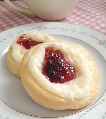 Easy Strawberry & Cheese Danish