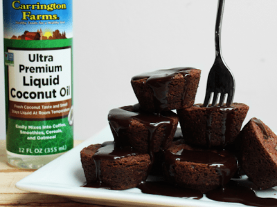 Fudgy Coconut Flour and Coconut Oil Brownies