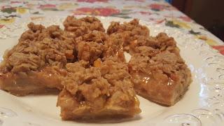 Caramel Pear Bars