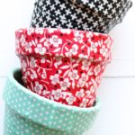 Featuring You ~ Fabric Covered Flower Pots
