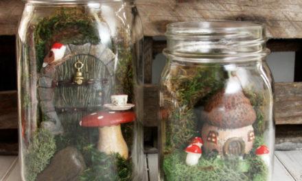 Featuring You ~ Mason Jar Fairy Gardens