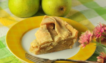 Featuring You ~ Pear Pie with Rum, Orange and Almond
