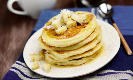 Tropical Banana Coconut Flax Pancakes